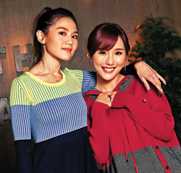 陳靜(右)大贊周秀娜(左)好爽直。