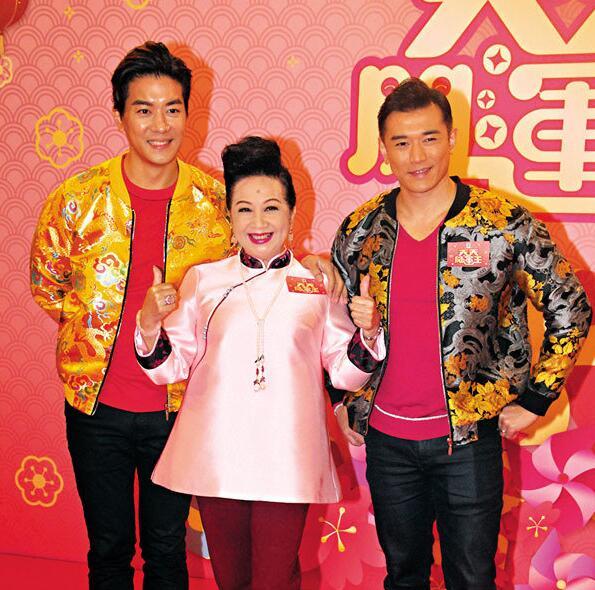 左起:黎諾懿、薛家燕及黃祥興將主持新春賀年節目《天天開運王》。