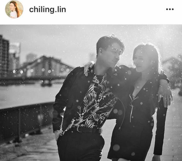 AKIRA林志玲结婚两周年 公开恩爱纪念合影获赞赏