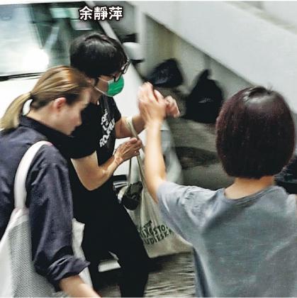卢凯彤遗孀余静萍从内地赶回香港奔丧,昨天(8月6日)前往西区殓房认尸