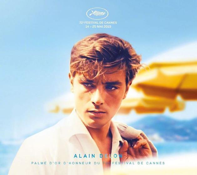 戛纳致敬阿兰·德龙设计的海报