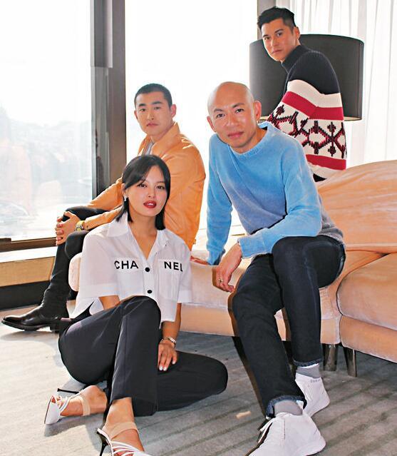 林超賢率王彥霖、辛芷蕾和陳家樂接受訪問。