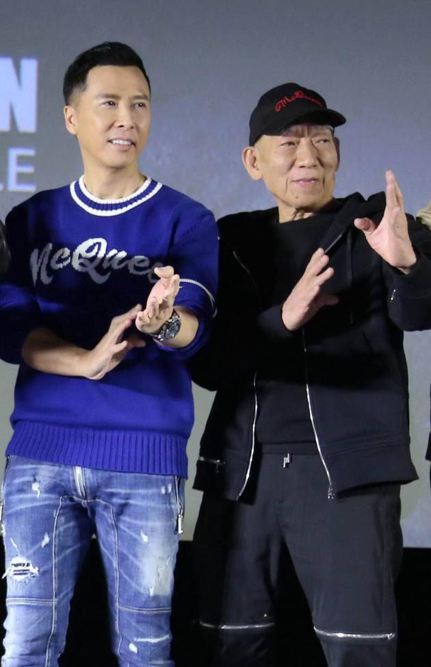 甄子丹、袁和平在《葉問4》發布會