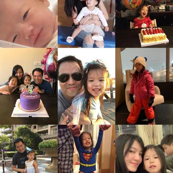 林熙蕾分享平时家庭生活。