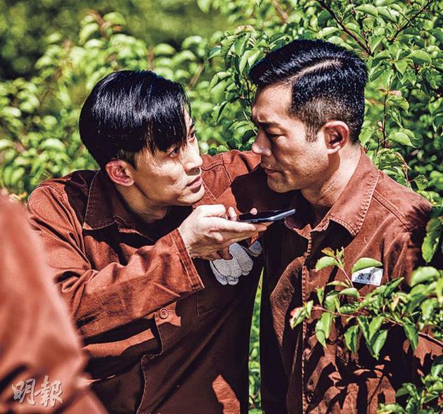 林峰(左)与古天乐在电影《P风暴》中有不少对手戏。