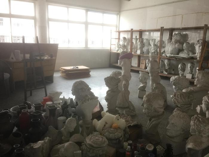 大丰二中的美术教室