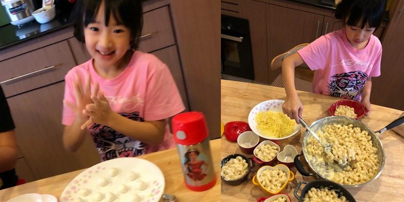 多才多艺!吴尊女儿neinei跳舞做菜超活泼