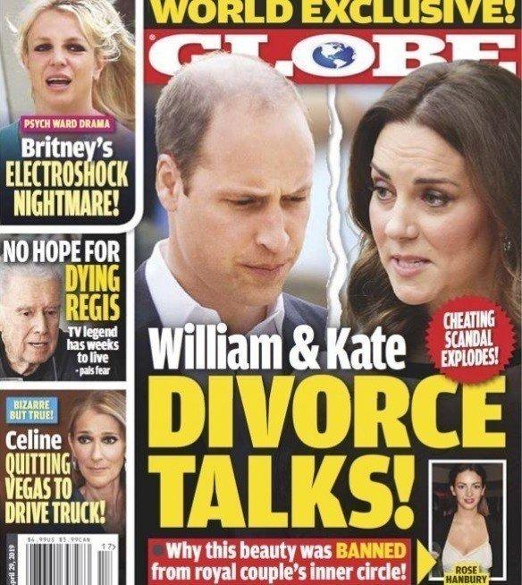 英國威廉王子與妻子凱特被傳陷入離婚危機