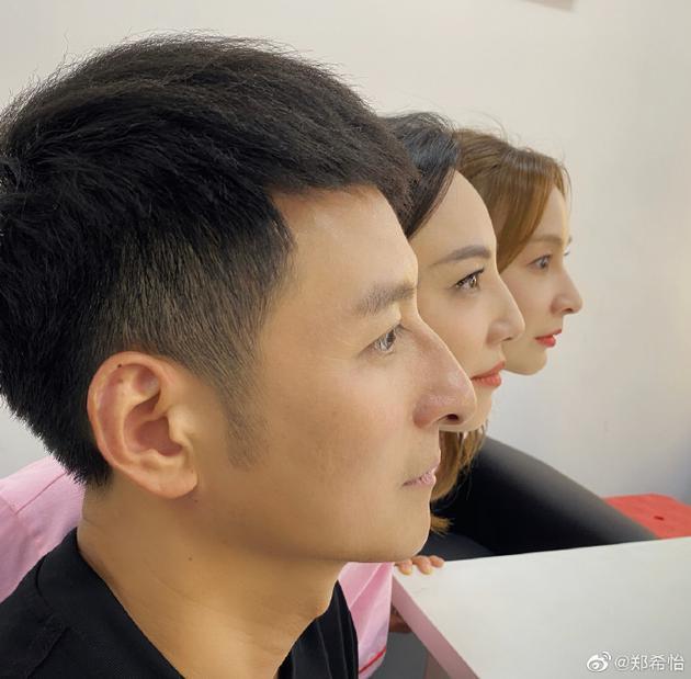 郑希怡晒与吴昕维嘉侧颜合照 三人同款鼻子抢镜