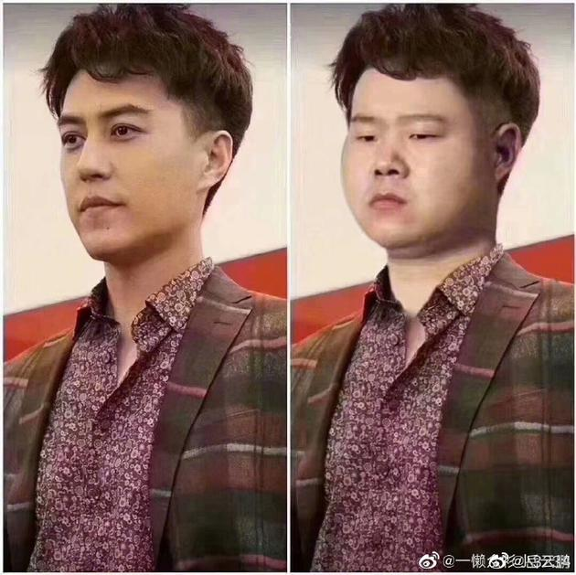 岳云鵬被網友P圖與靳東撞衫
