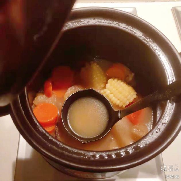 杨幂做的玉米汤