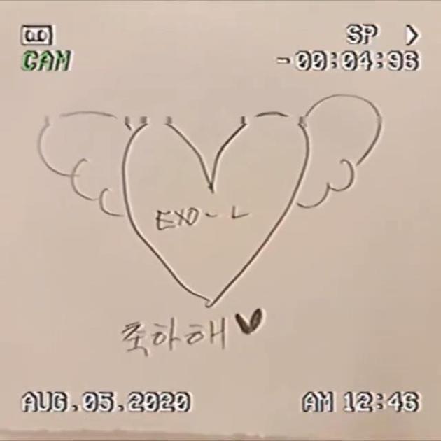 朴灿烈发视频祝EXO-L六岁生日快乐 手绘+纹身醒目