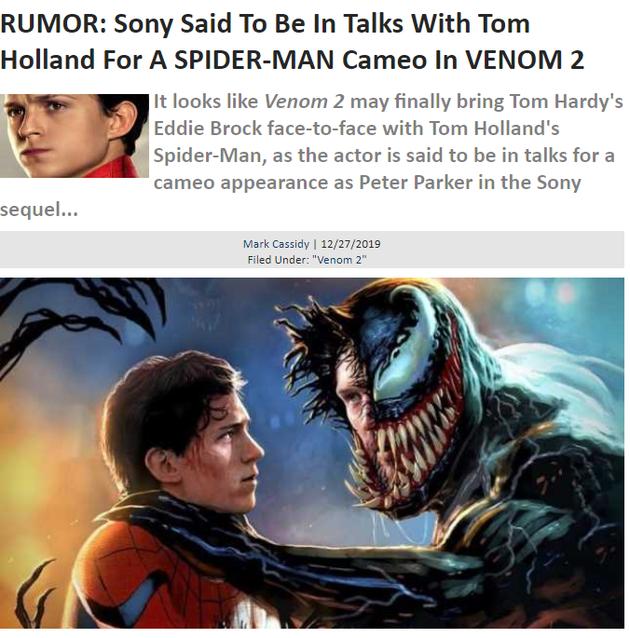 外媒爆料索尼与荷兰弟商谈 蜘蛛侠或加盟毒液2