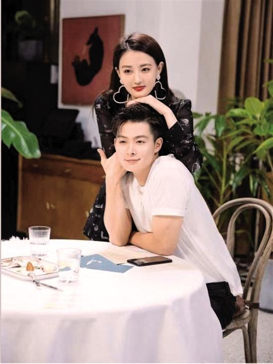 張銘恩與徐璐在節目中高調秀恩愛