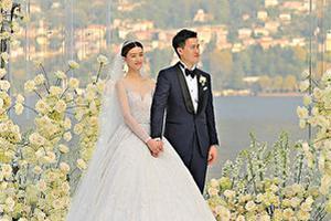 婚礼上梁锦松致词祝贺 文咏珊意大利古堡出嫁