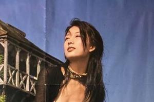 林志玲十几年前海报曝光 穿衣大胆拍照pose成谜