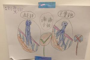 """诺一画画提醒霓娜好好走路 刘烨:不行就""""削她"""""""