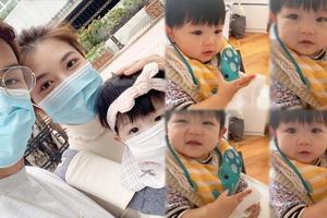陈展鹏教女儿进食前先洗手 呼吁宝宝要注重卫生