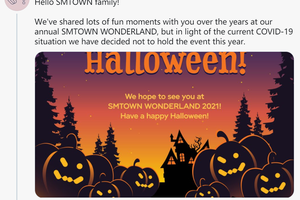 由于疫情影响 SM今年不举行万圣节晚会