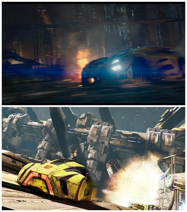 大黄蜂的塞星车型与《塞伯坦陨落》游戏(下图)中非常相似