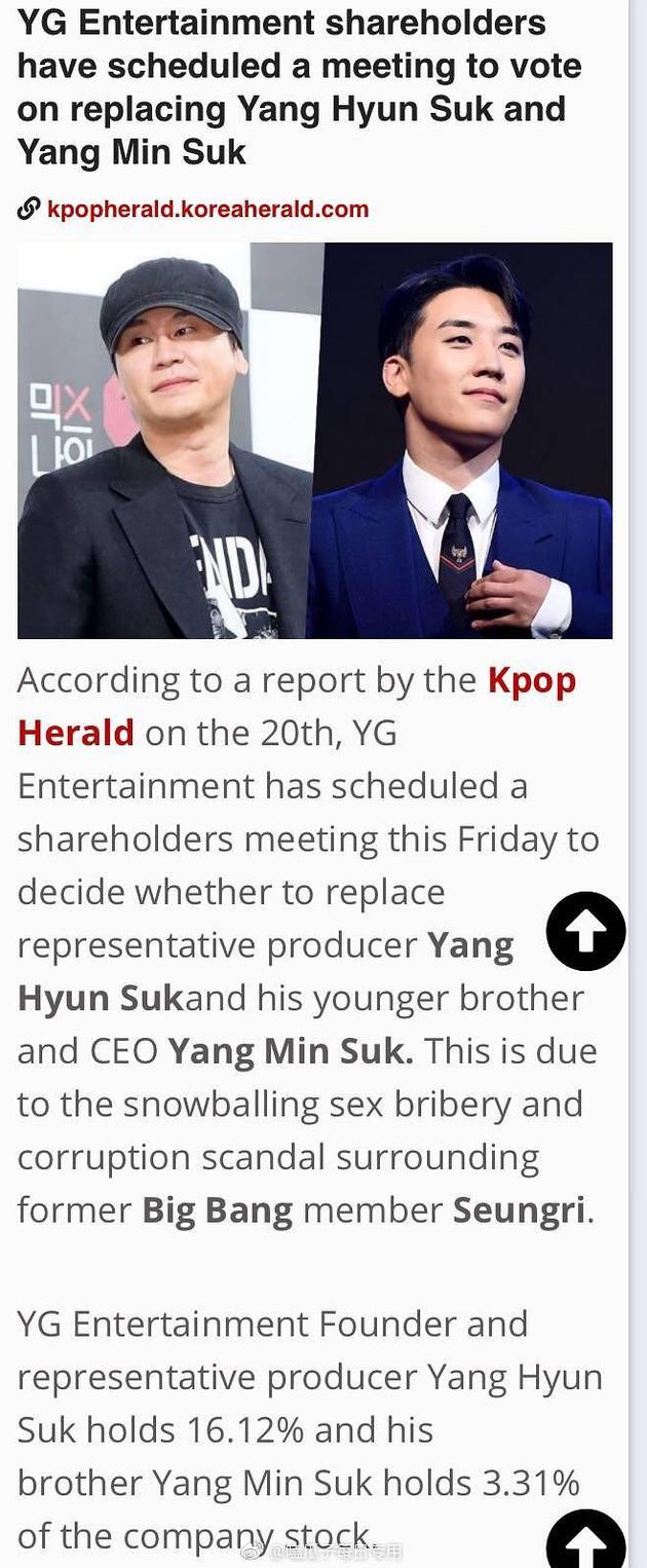 YG于本周五举行股东大会