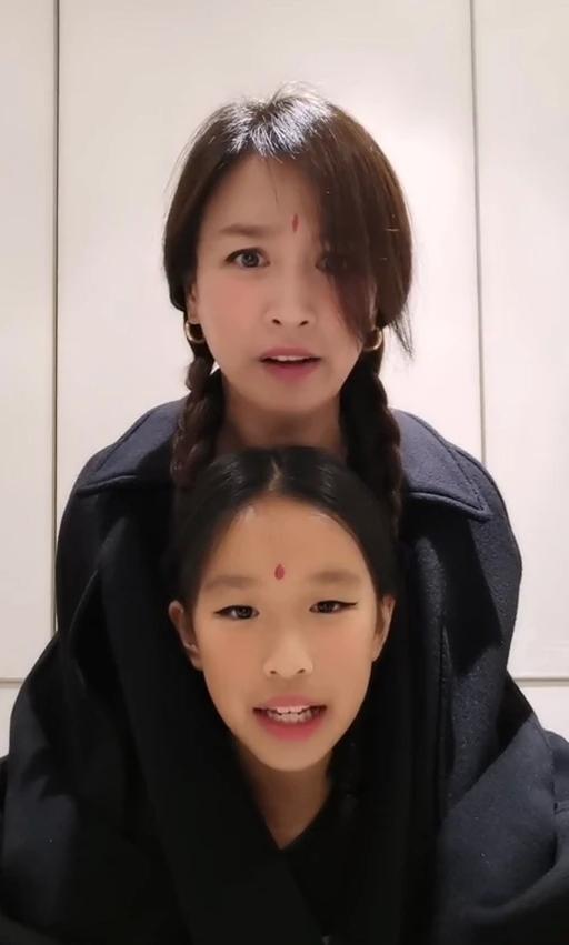 张庭与女儿