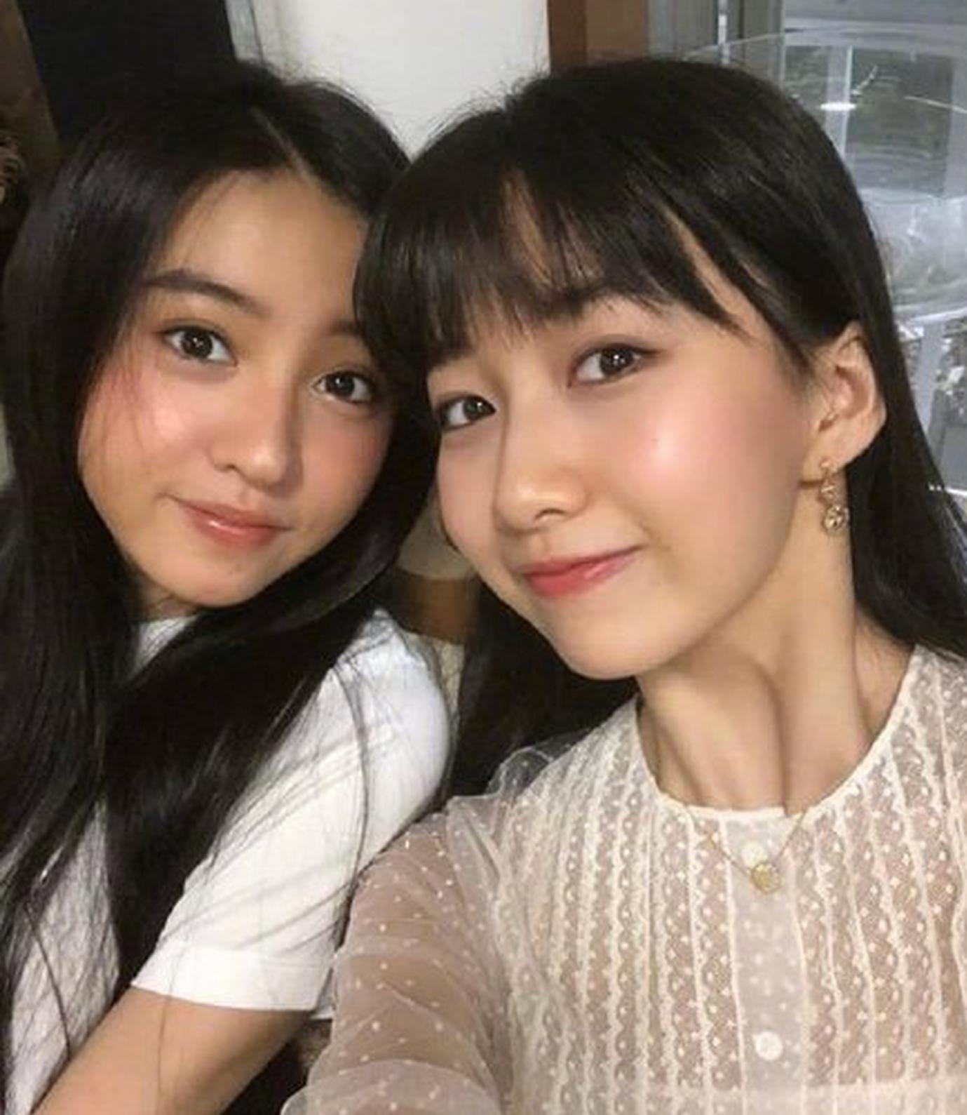 木村光希晒两姐妹搞怪自拍 满脸胶原蛋白令人羡慕
