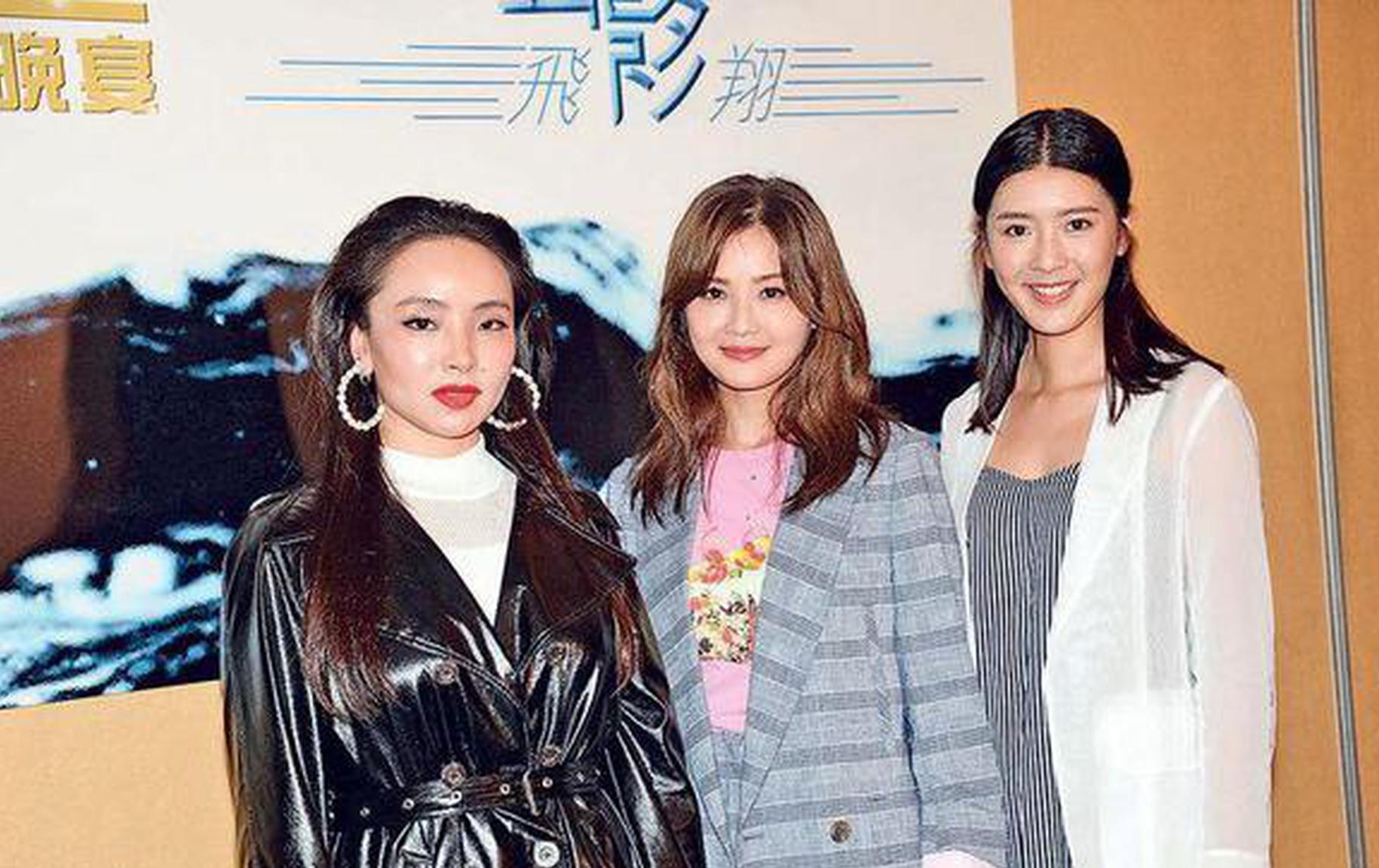 曾美慧孜(左起)、蔡卓妍和余香凝将在香港电影金像奖角逐影后,前晚(3月2日)在春茗晚宴上碰头。