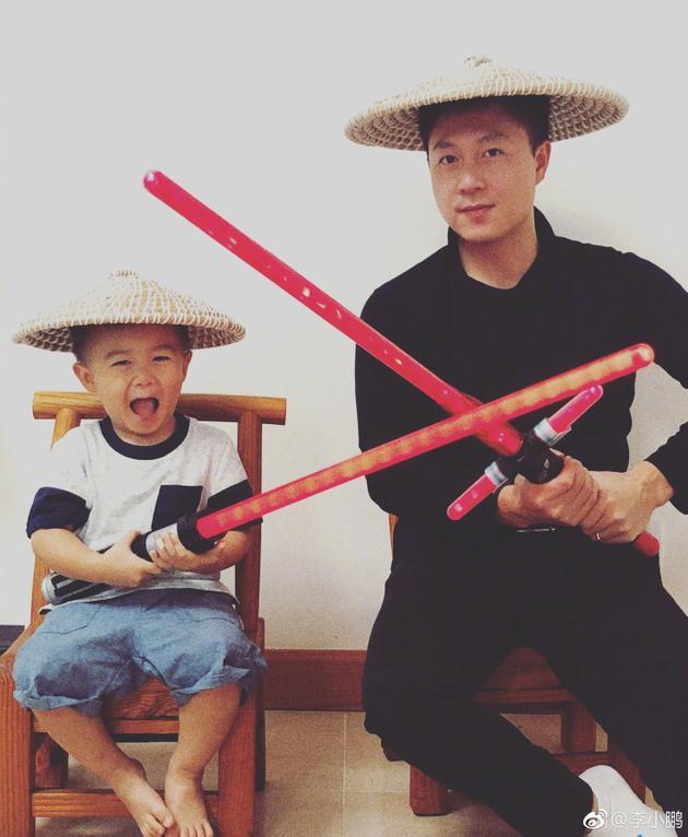 李小鵬與兒子合照