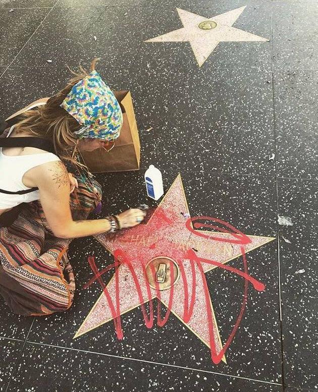 MJ女儿帕丽斯-杰克逊清理喷漆