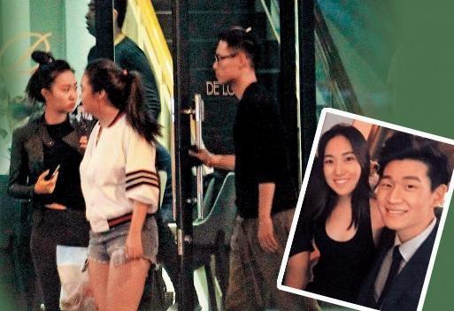 Melinda(大图左)2016年被拍到与友人和杨祐宁(大图右)一起,当时她与周兴哲(小图右)正在交往,不奇怪会传她周旋在周兴哲与杨祐宁之间。