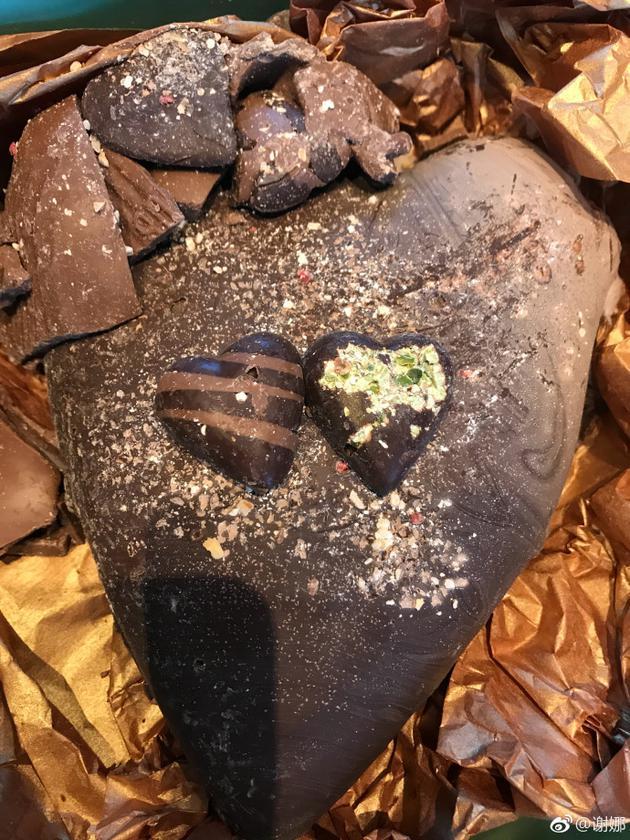 谢娜送张杰的巧克力