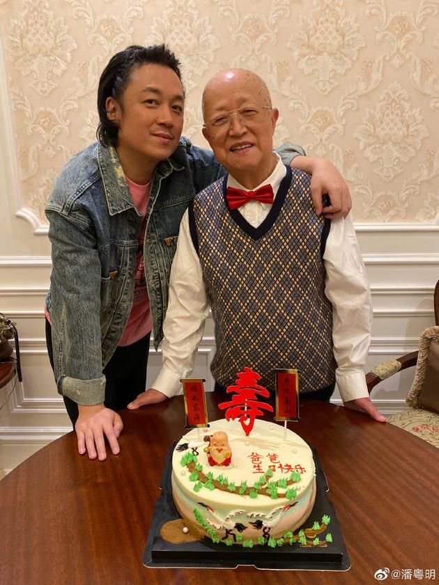 潘粤明和父亲
