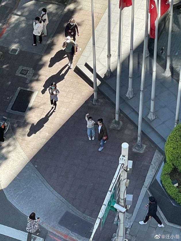 汪小菲回台北后再晒照 与女儿玥儿隔十几层楼相望