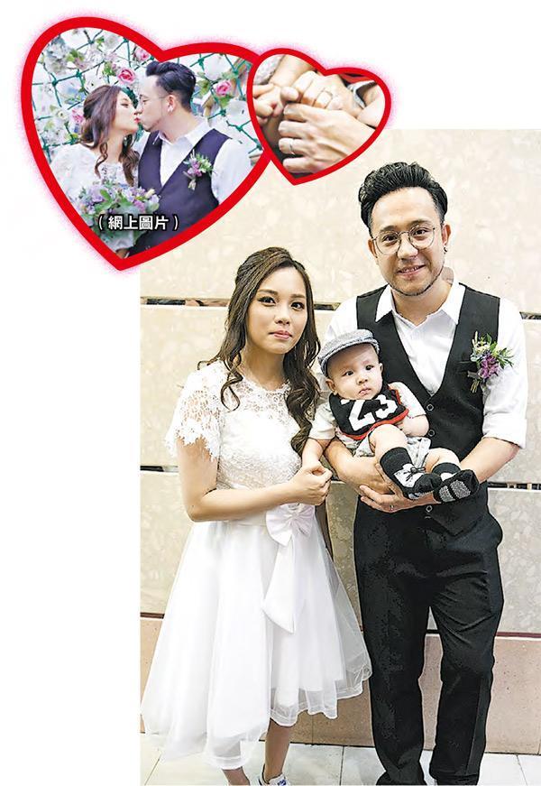 张致恒(右)承诺婚后会疼爱太太(左)和儿子,为家庭努力工作。
