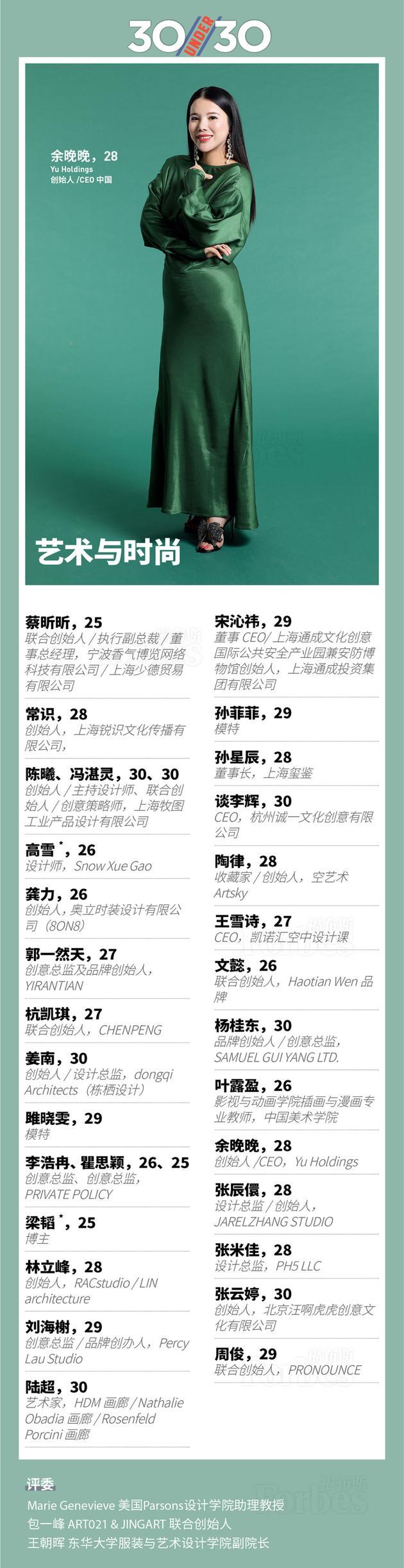 福布斯公布30岁以下精英榜 刘昊然张碧晨领衔登封