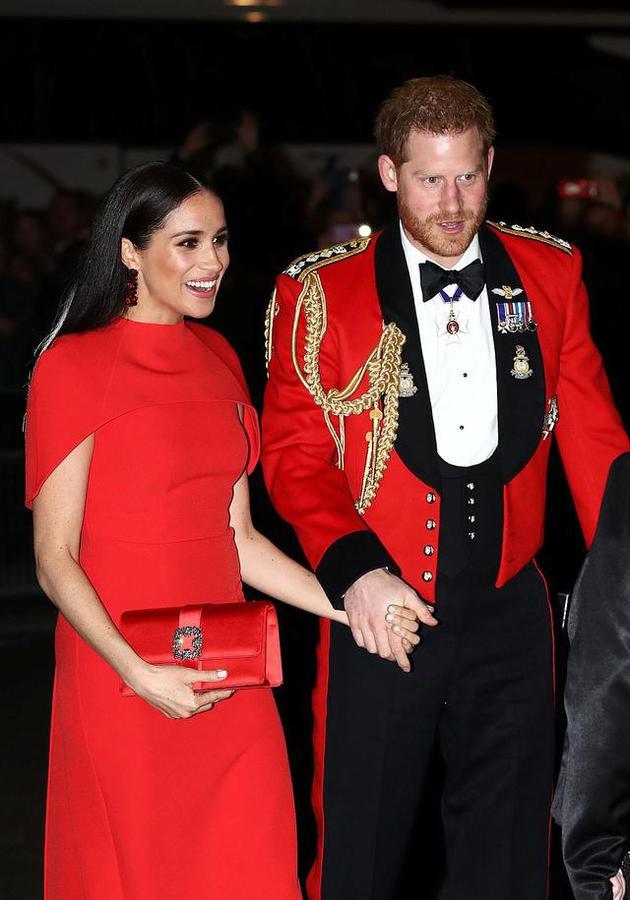 英国王子哈里(Prince Harry)与妻子梅根(Meghan Markle)