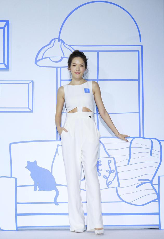 許瑋甯16日在臺北出席記者會。