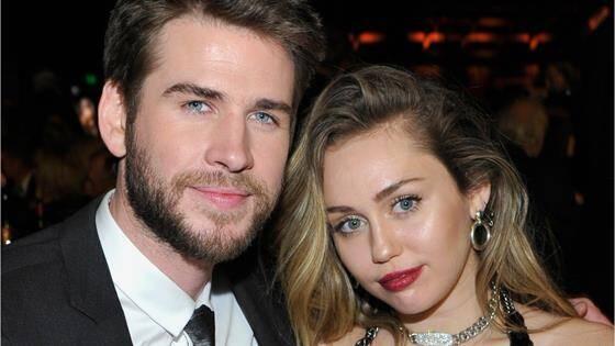 利亞姆海姆斯沃斯(Liam Hemsworth)與麥粒塞勒斯(Miley Cyrus)