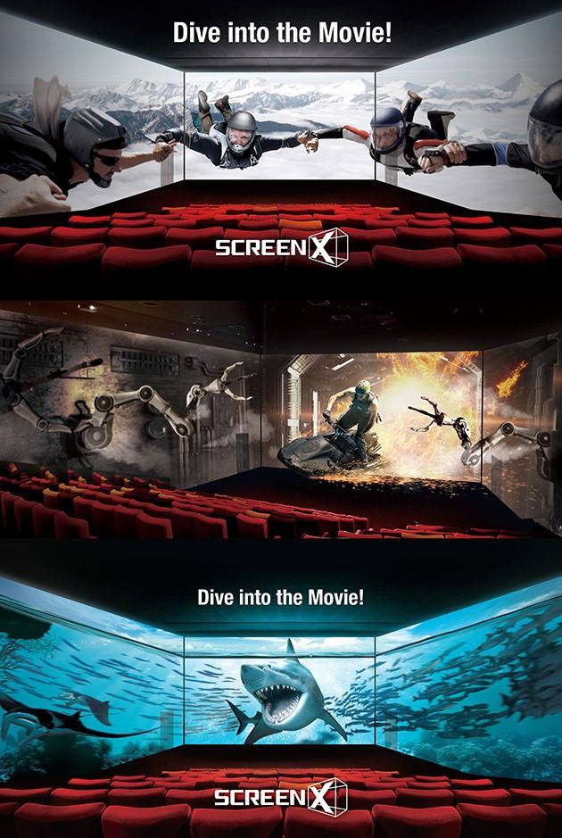 感受一下SCREENX三屏所带来的独一无二的创意作品