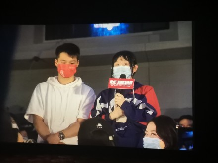 奥运冠军张家齐出席《长津湖》首映 表白易烊千玺