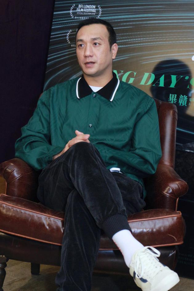 黃覺在臺灣接受媒體專訪