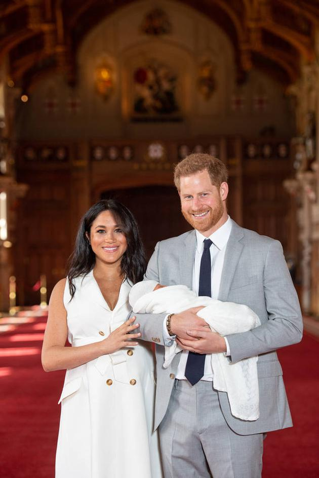 梅根、哈里王子分享寶寶的照片