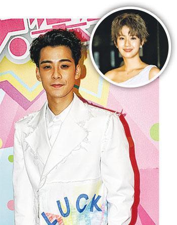 余德丞称蔡思贝(圆图)忙于拍新剧,还没有时间跟他补祝生日。