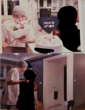 灿烈前女友贴出两人庆祝纪念日和接吻合照