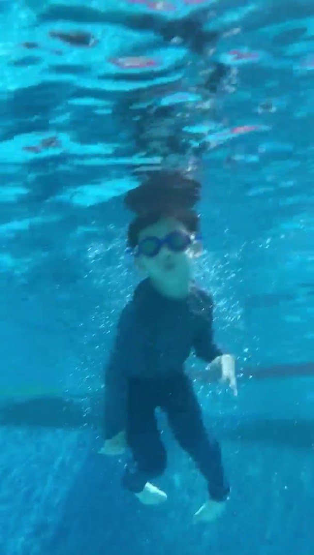 陈建州儿子表演360度花式跳水 网友:可爱满分