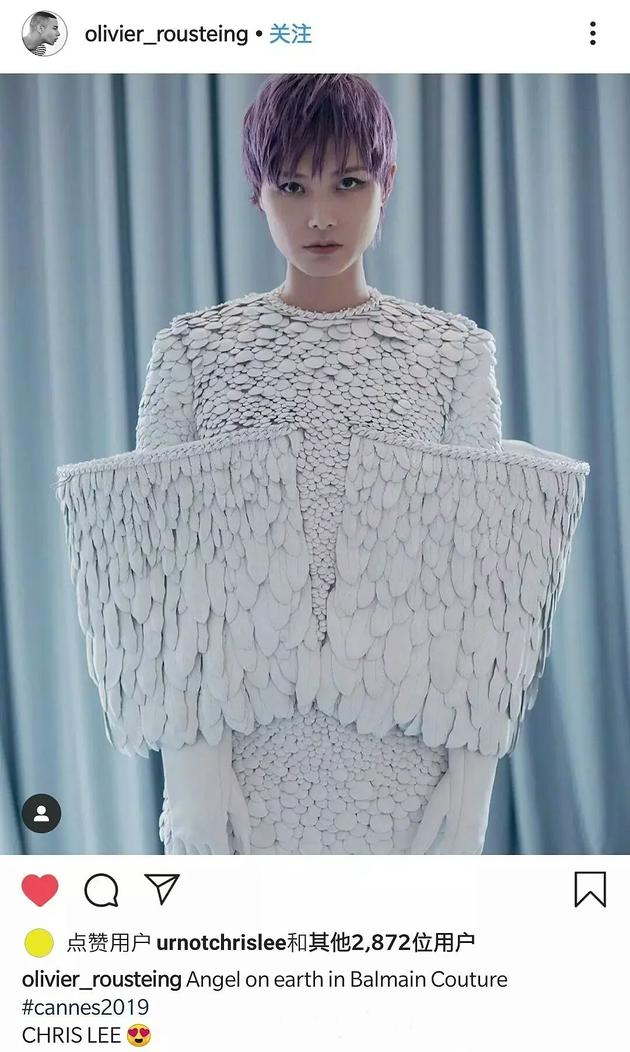 李宇春戛納電影節紅毯
