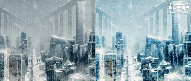 普通银幕与Super Cinema-超级影院巨幕效果对比