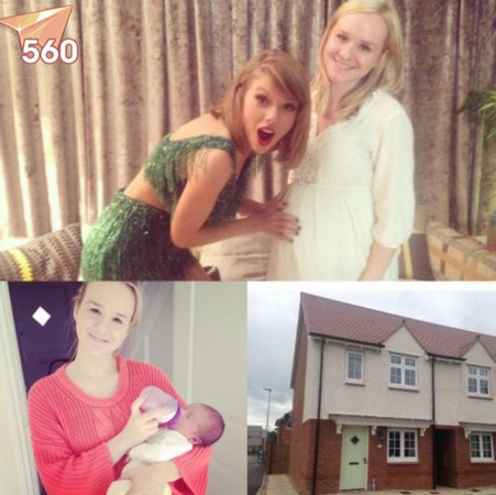 粉丝po出泰勒与自己的合照及房子照片