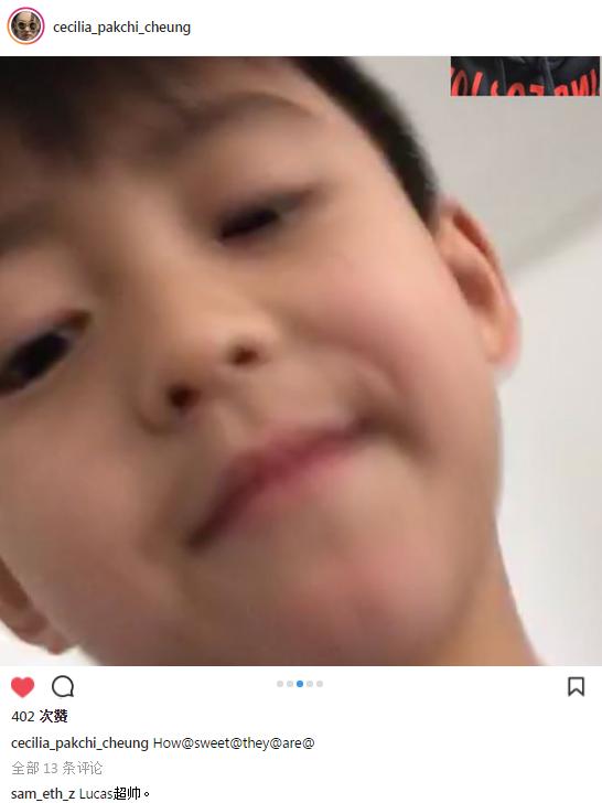 张柏芝和儿子视频